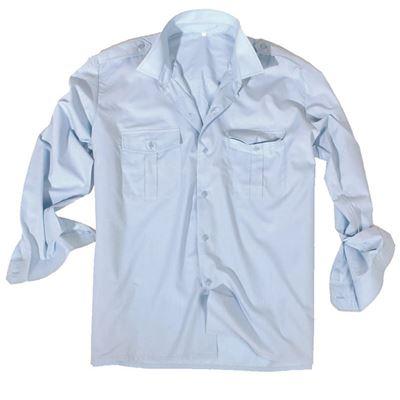 Košile SERVIS dlouhý rukáv na knoflíky SVĚTLE MODRÁ