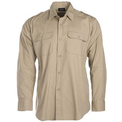 Košile TROPICAL na knoflíky KHAKI