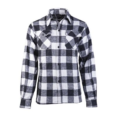 Košile DŘEVORUBECKÁ na knoflíky BÍLOČERNÁ