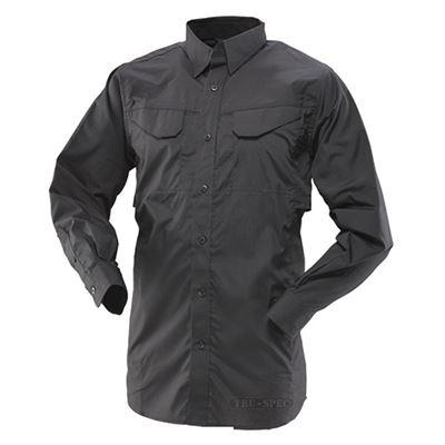 Košile 24-7 FIELD dlouhý rukáv rip-stop ČERNÁ