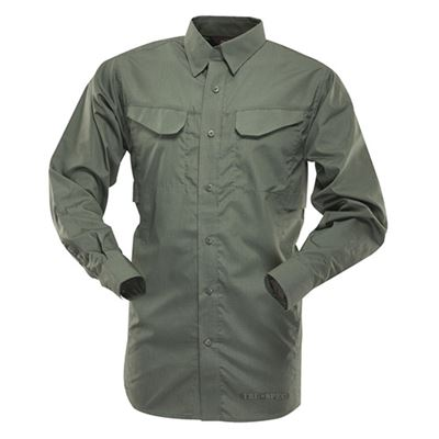 Košile 24-7 FIELD dlouhý rukáv rip-stop ZELENÁ