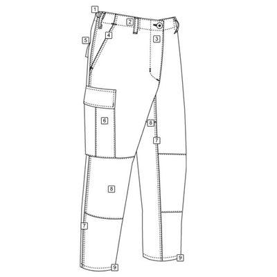Kalhoty BDU P/C rip-stop URBAN DIGITAL