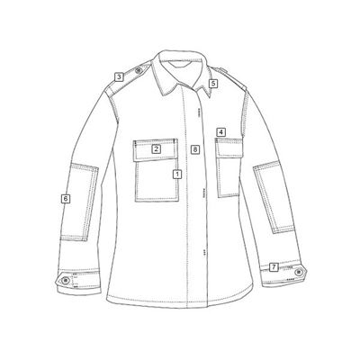 Košile taktická dl.rukáv TMAVĚ ŠEDÁ