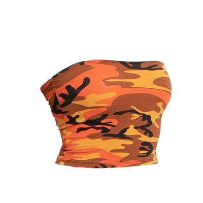 Top dámský TUBE ORANGE CAMO