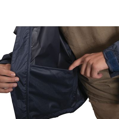 Bunda nepromokavá lehká s kapucí MODRÁ