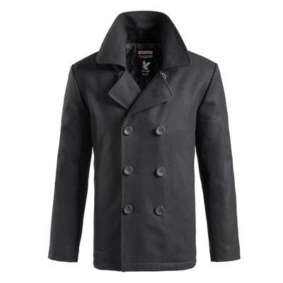 Kabát PEA COAT ČERNÝ