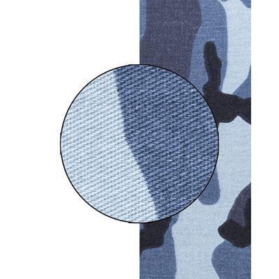 Látka kepr URBAN CAMO BLUE šíře 160cm