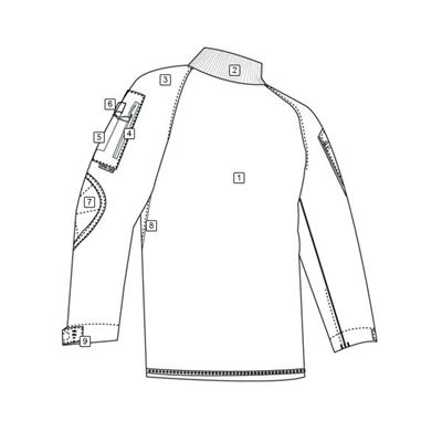 Košile taktická COMBAT rip-stop MODRÁ