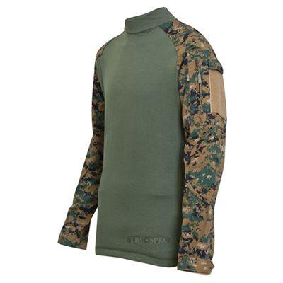 Košile taktická COMBAT rip-stop DIGITAL WOODLAND