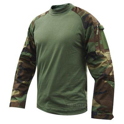 Košile taktická COMBAT Cordura rip-stop WOODLAND