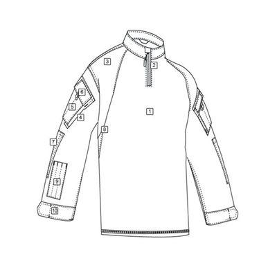 Košile taktická COMBAT TRU 1/4 ZIP ČERNÁ