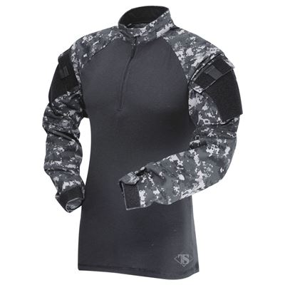 Košile taktická COMBAT TRU 1/4 ZIP URBAN DIGITAL/ČERNÁ