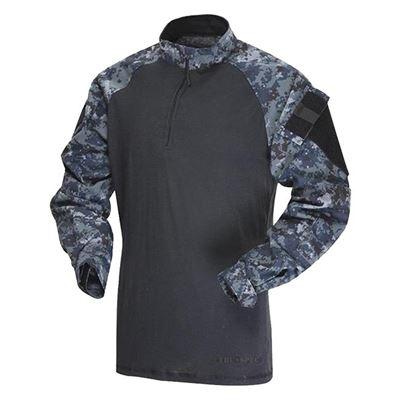 Košile taktická COMBAT TRU 1/4 ZIP MIDNIGHT DIGITAL