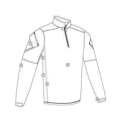Košile taktická URBAN FORCE TRU 1/4 ZIP ČERNÁ
