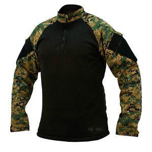 Košile taktická 1/4 zip COLD WEATHER DIGITAL WOODLAND