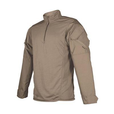 Košile taktická URBAN FORCE TRU 1/4 ZIP HNĚDÁ