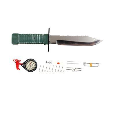 Nůž s pevnou čepelí na přežití SURVIVAL WOODLAND