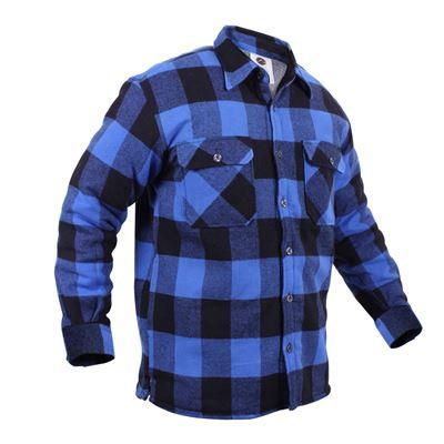 Košile dřevorubecká zateplená kostkovaná MODRÁ