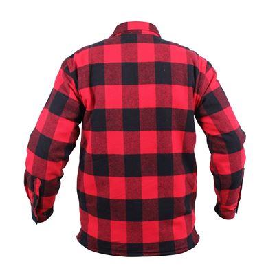 Košile dřevorubecká zateplená kostkovaná ČERVENÁ