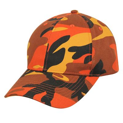Čepice baseball Supreme Low ORANGE CAMO