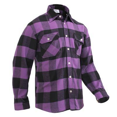 Košile dřevorubecká FLANNEL kostkovaná FIALOVÁ