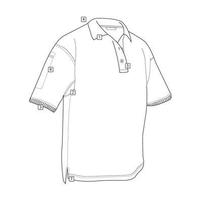 Polokošile 24-7 CLASSIC krátký rukáv MODRÉ