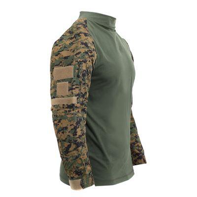 Košile taktická AIRSOFT COMBAT DIGITAL WOODLAND
