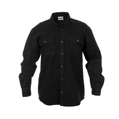 Košile dřevorubecká FLANNEL ČERNÁ