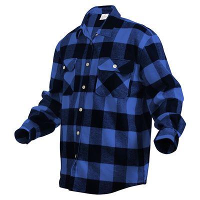 Košile dřevorubecká FLANNEL kostkovaná MODRÁ