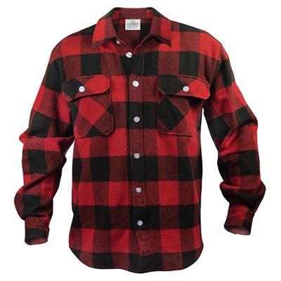 Košile dřevorubecká FLANNEL kostkovaná ČERVENÁ