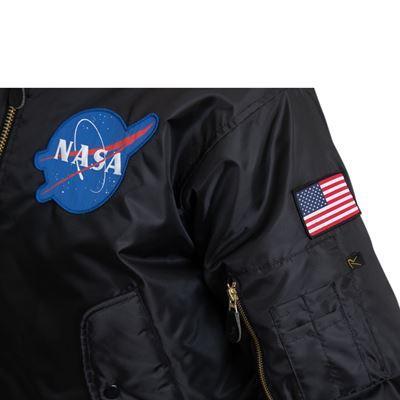 Bunda MA1 FLIGHT NASA ČERNÁ