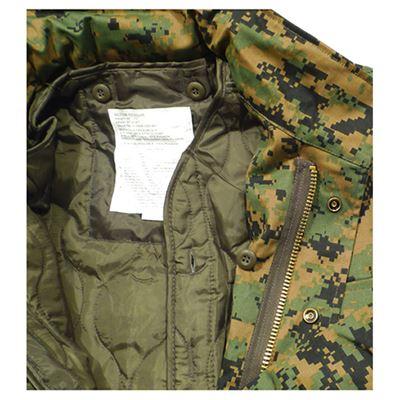 Bunda US M65 s vložkou DIGITAL WOODLAND