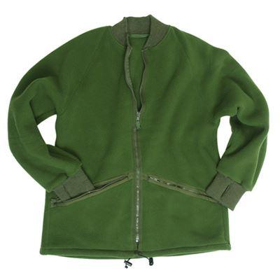 Bunda fleece britská ZELENÁ použitá