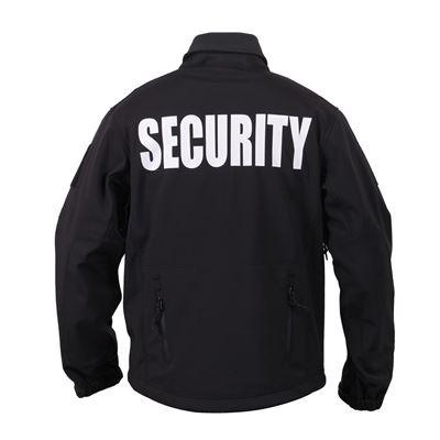 Bunda softshell SECURITY a kapucí ČERNÁ