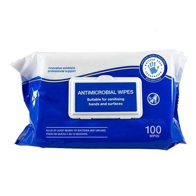 Ubrousky čistící antimikrobiální balení 100 kusů