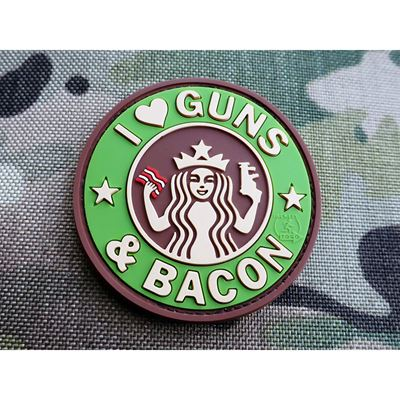 Nášivka GUNS AND BACON plast velcro MULTICAM®