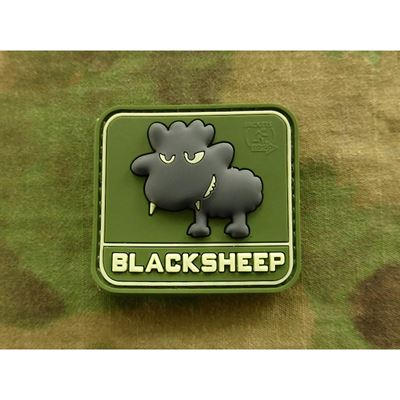 Nášivka LITTLE BLACKSHEEP plast ZELENÁ