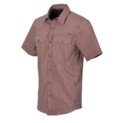 Košile COVERT CONCEALED CARRY DIRT RED CHECKERED