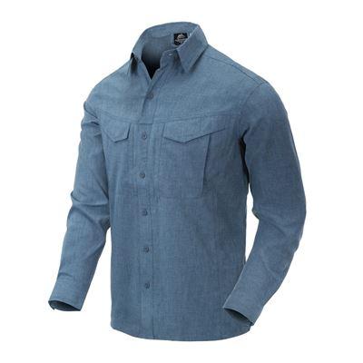 Košile DEFENDER Mk2 dl. rukáv MODRÁ MELANŽ