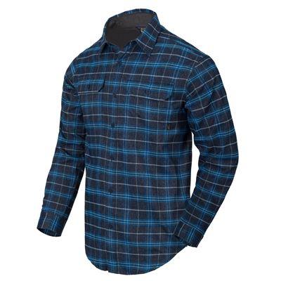 Košile GREYMAN dlouhý rukáv BLUE STONEWORK PLAID