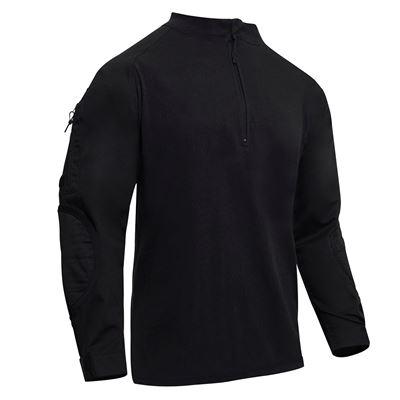 Košile taktická se zipem AIRSOFT COMBAT ČERNÁ