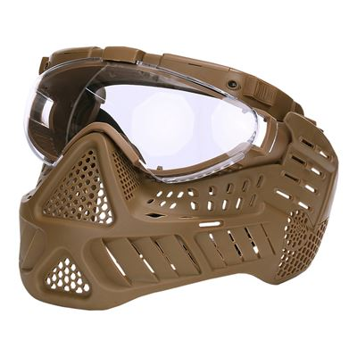 Maska ochranná PAINTBALL LED KHAKI