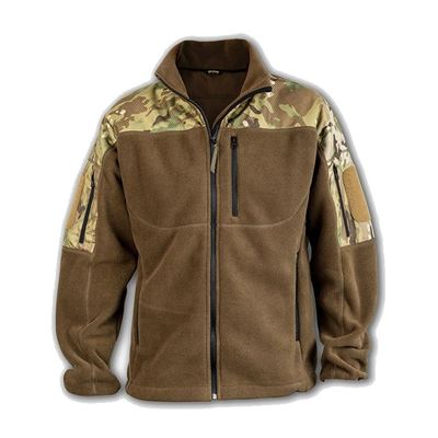 Bunda fleece Polartec® RAVEN s rameny MULTICAM®
